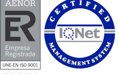Detectib consigue la renovación del certificado de calidad ISO 9001-2015